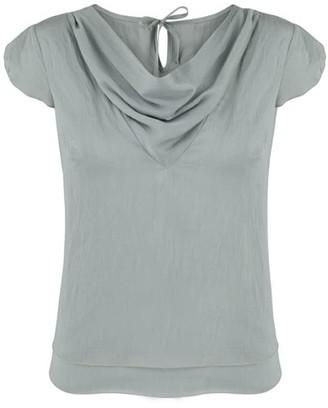 Klaudia Karamandi Waterfall Grey Modal-Silk Shirt
