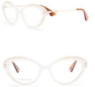 Gucci 51mm Cat Eye Optical Frames