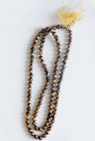 Live Worldly Tibetan Mala Bead Necklace in Wood