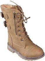 Camel Buckle Combat Boot