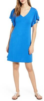 Tommy Bahama Sealight Ruffle Sleeve Dress