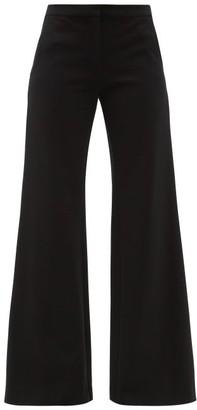 Goat Laine Jersey Wide-leg Trousers - Black