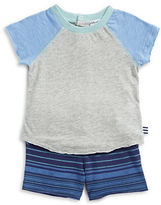 Splendid Raglan Tee and Striped Shorts Set