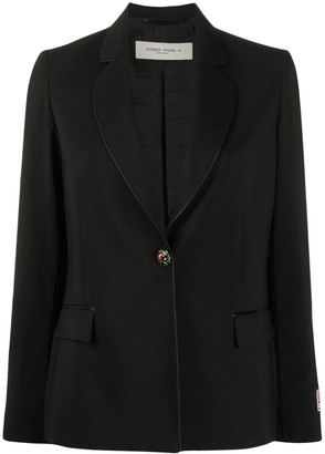 Golden Goose Crystal-Button Single Breasted Blazer