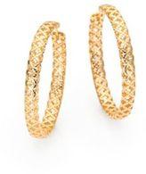 Gucci Diamantissima 18K Yellow Gold Hoop Earrings/1.5
