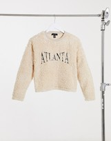 Thumbnail for your product : New Look co ord Atlanta teddy sweat in cream