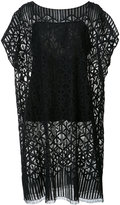 Akris long lace detail top