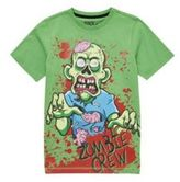 F&F Zombie Holographic Eyes Halloween T-Shirt, Boy's