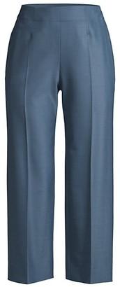Rebecca Taylor Gabardine Straight Cropped Pants