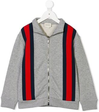 Gucci Kids stripe front sweatshirt