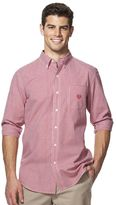 Chaps Big & Tall Gingham Easy-Care Poplin Shirt