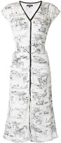 Markus Lupfer Safari Print Midi Dress