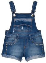 Mayoral Mid Wash Short Dungarees with Turn Up Detail