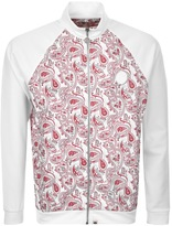Pretty Green Paisley Full Zip Track Top Red
