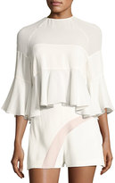 Alexis Albania 3/4-Sleeve Top, White