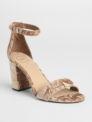 Gap Velvet Block Heel Sandals