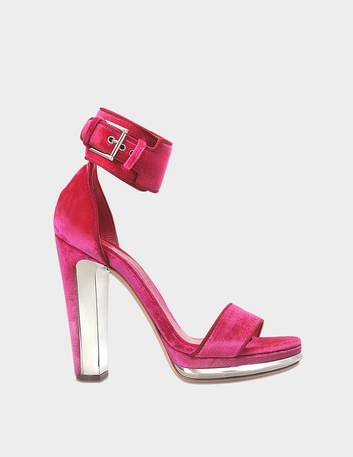Alexander McQueen Velvet platform sandals
