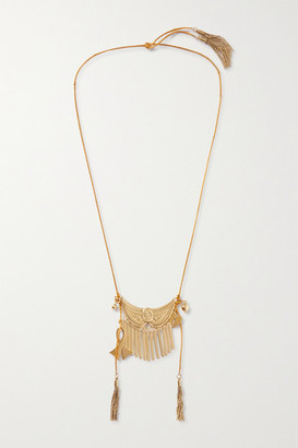 Etro Tasseled Gold-tone Necklace