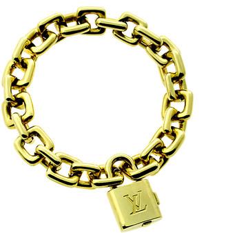 Louis Vuitton Heritage  18K Padlock Charm Bracelet