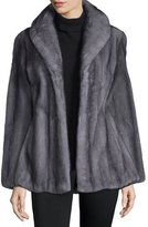 Gorski Shawl-Collar Mink Jacket, Light Gray