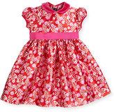 Oscar de la Renta Petite Roses Mikado Dress, Ruby/Fuchsia, Size 12-24 Months