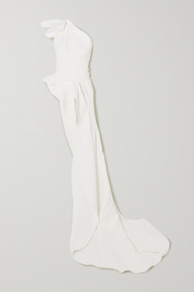 Maticevski Unconditional Gathered Asymmetric Cady Top - White