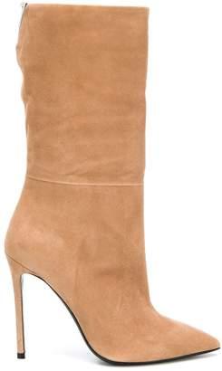 Grey Mer calf length boots