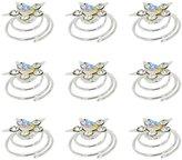 Zaki L'vow Wedding Bridal Crystal Pearl Flower Swirl Twist Hair Clips Pack of 12