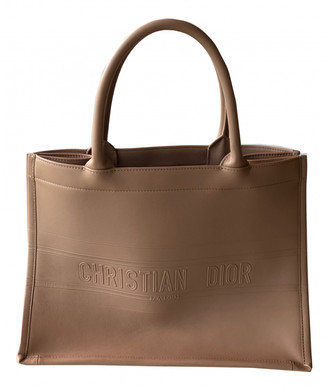 Christian Dior Book Tote Pink Leather Handbags