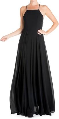 Meghan La Midnight Solid Maxi Dress