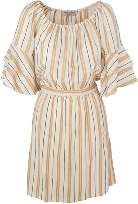 Haris Cotton Kynthia Stripped Dress Gold