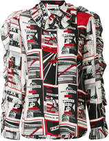 Sonia Rykiel printed newspaper blouse