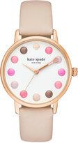 Kate Spade Women's Metro Vachetta Leather Strap Watch 34mm KSW1253