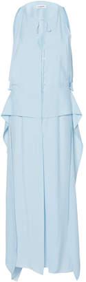 Lanvin Ruffle-Trimmed Poplin Maxi Dress