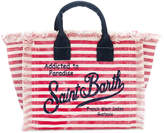 Mc2 Saint Barth Kids striped beach bag