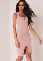 Missy Empire Lola Pink Textured Bodycon Mini Dress