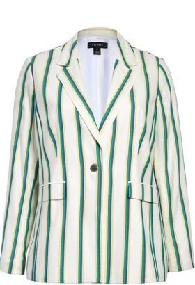 Halogen Stripe Twill Blazer