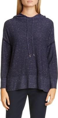 Lafayette 148 New York Sequin Metallic Silk & Wool Blend Hoodie