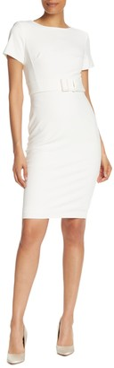 Calvin Klein Belted Waist Sheath Dress
