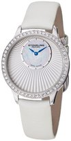 Stuhrling Original Radiant Women's Quartz Watch with White Dial Analogue Display and White Leather Strap 336.121P2SET