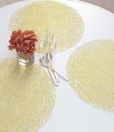 Chilewich Pressed Filigree Round Placemat (Set of 4)