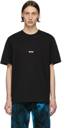 MSGM Black Micro Logo T-Shirt
