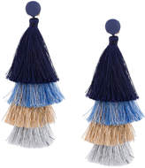 Deepa Gurnani fringed drop earrings