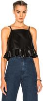 Rachel Comey Plano Leather Top in Black.