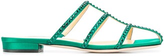 Giannico crystal Kaya flat sandals