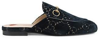 Gucci Women's Velvet Slippers - Blue