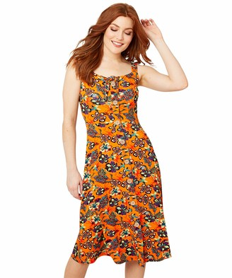 Joe Browns Women's Bold Floral Print Strappy Summer Dress Casual