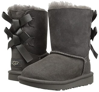 Ugg Kids Bailey Bow II (Toddler/Little Kid) (Grey) Girls Shoes
