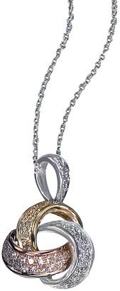 Effy 14K Tri Tone Gold Love Knot Pendant with Diamonds