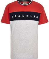 River Island Red Franklin And Marshall Colour Block T-shirt